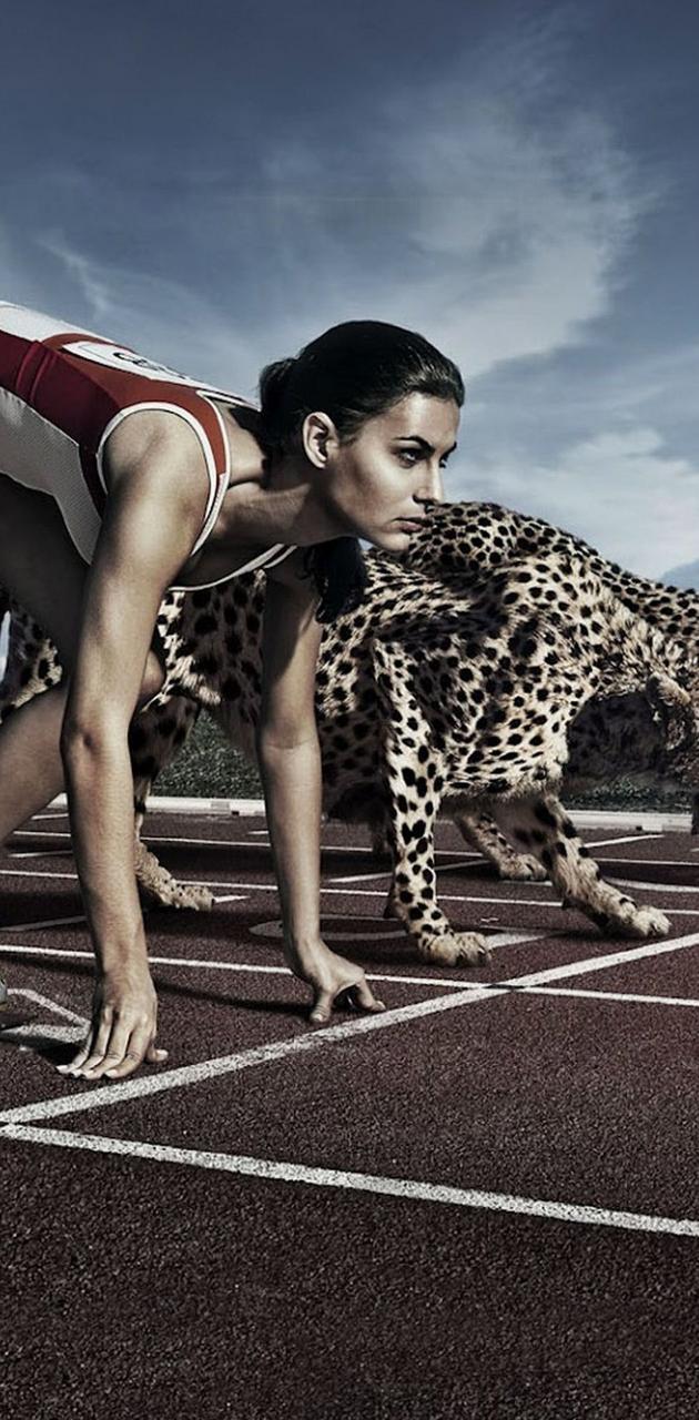 cheetah and girl