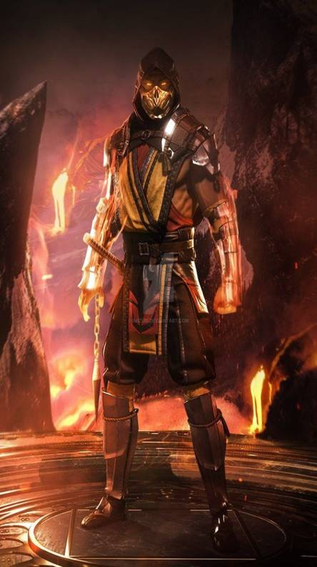 Mortal Kombat 11 Scorpion Wallpaper Iphone Wallpapershit