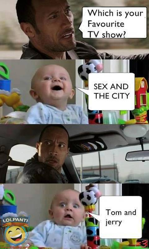 the rock and baby