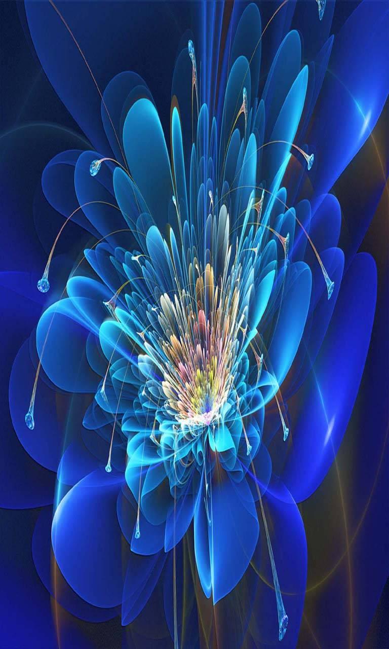 Fractal flower blue