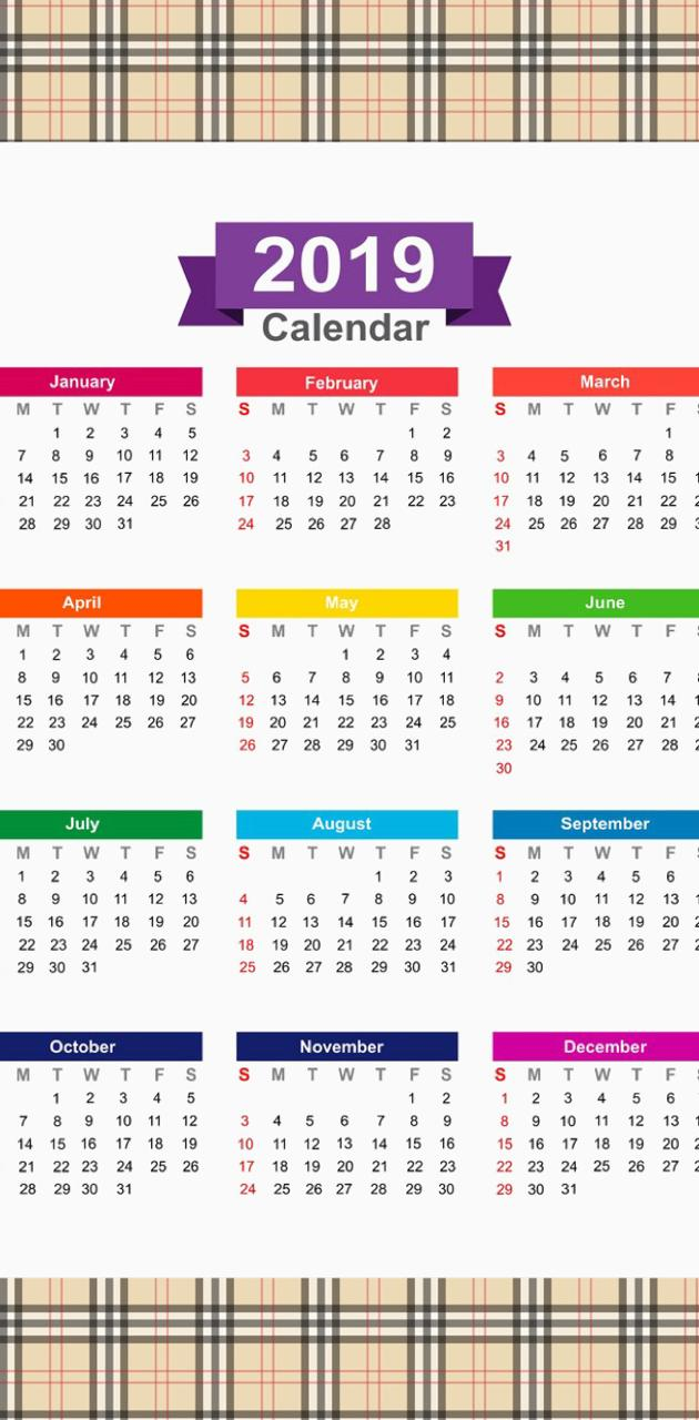 2019 Calendar v13