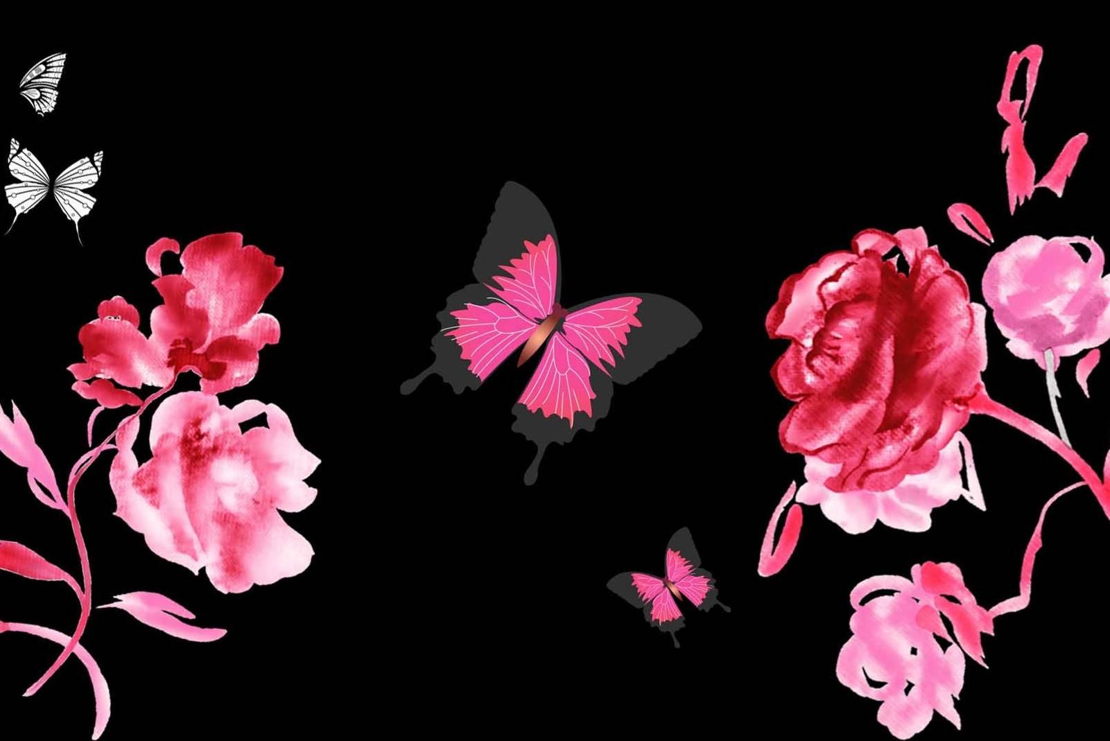 Roses Butterflies