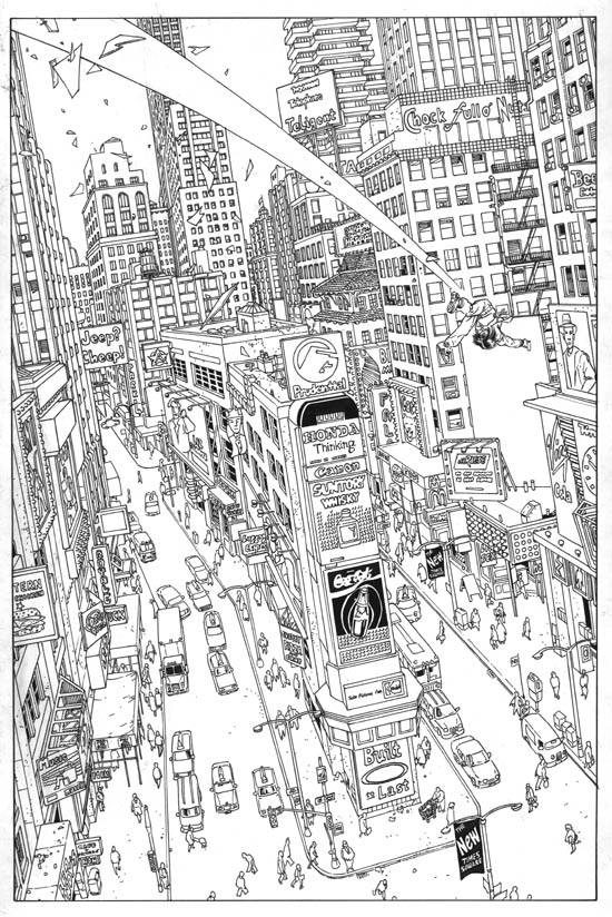 matrix comic pin-up