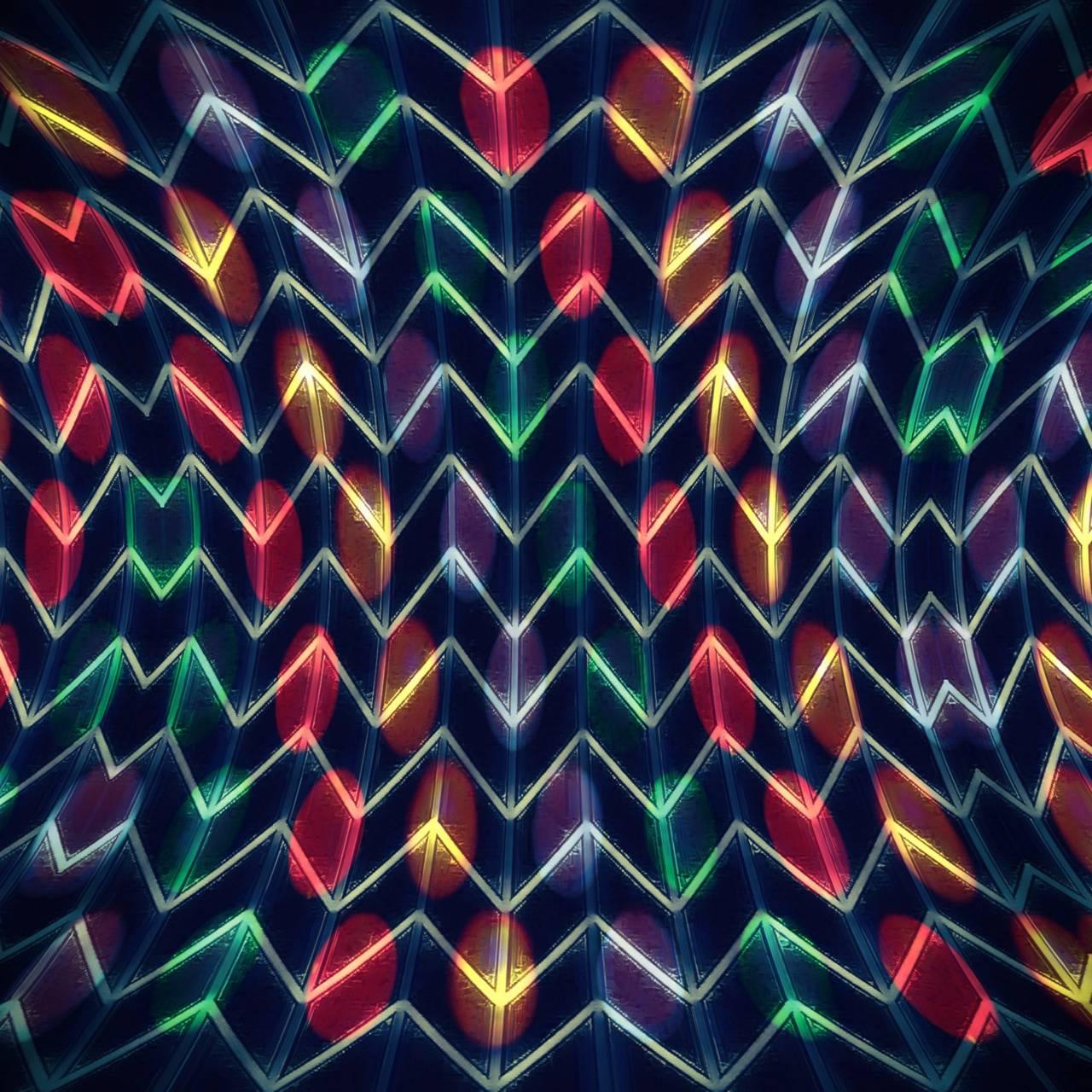 Melted Neon Chevron