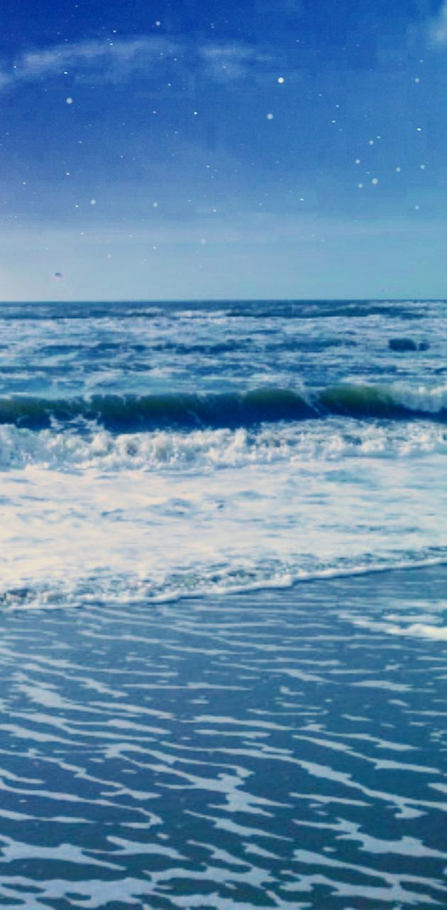 Wallpaper blues sea