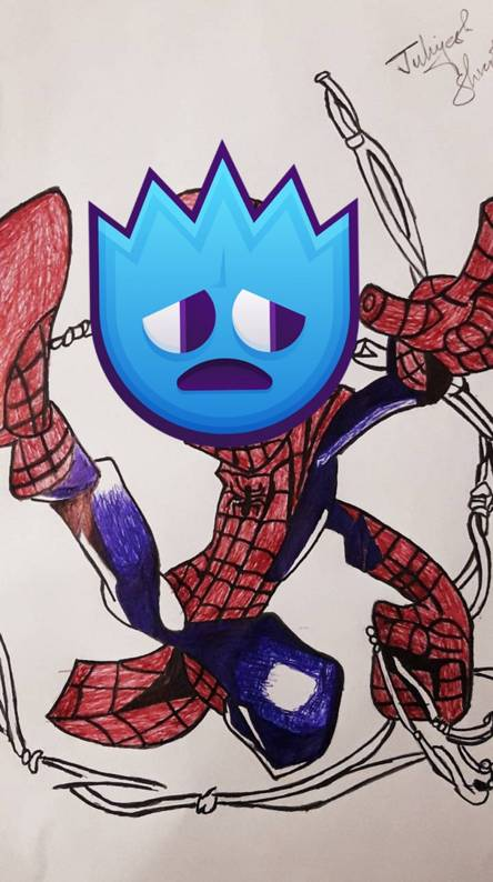 A Stressed Spiderman