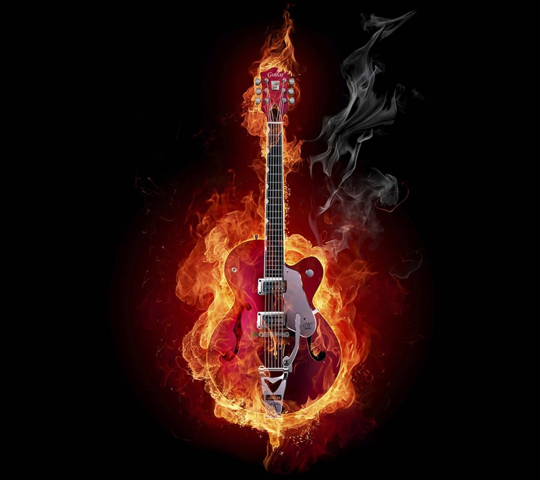 Fiery guitar