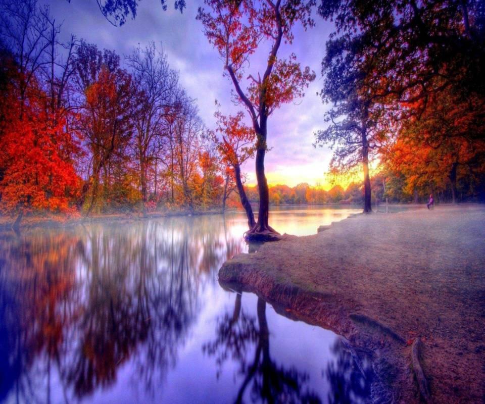 hd colorful lake
