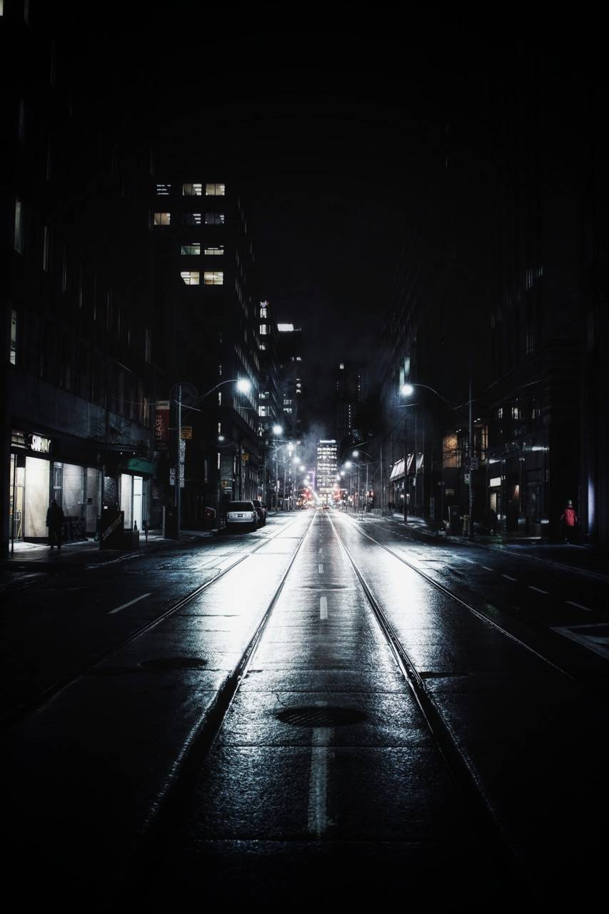 Street on night