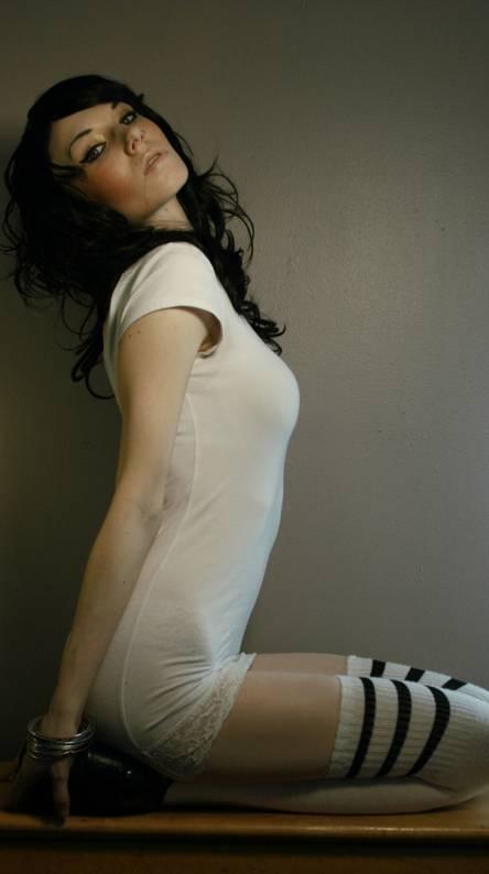 Model in thighsocks
