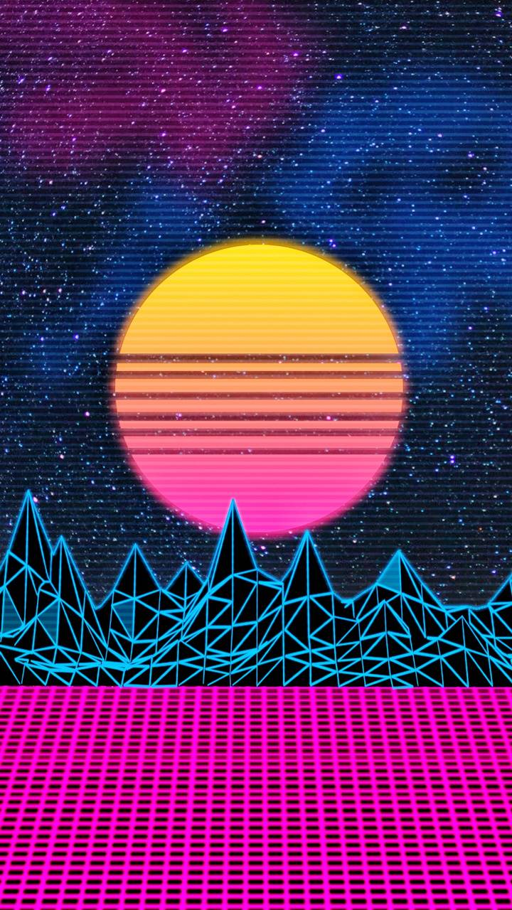 Retro Sunset Cyber