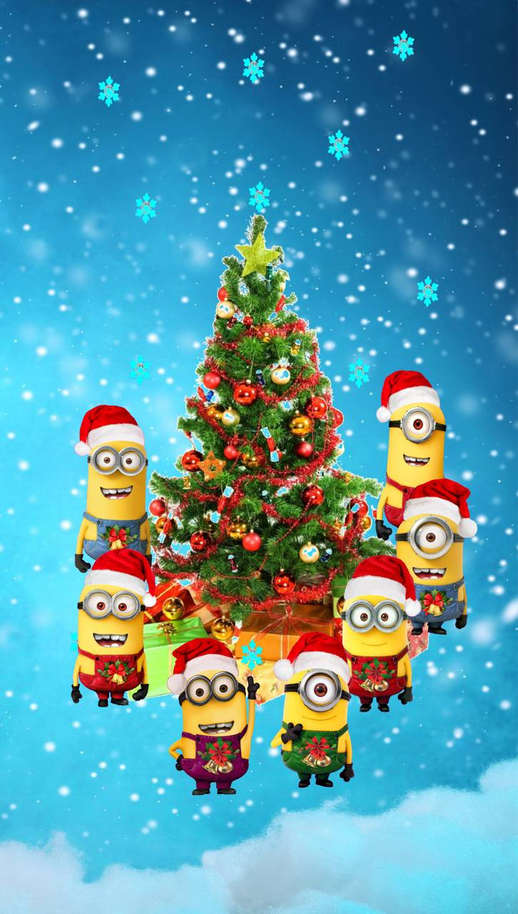 minions christmas - Minions Christmas Tree