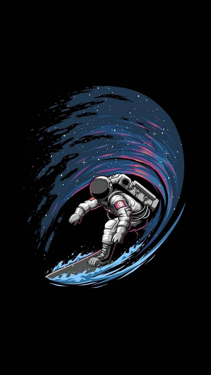 Astronaut surfer