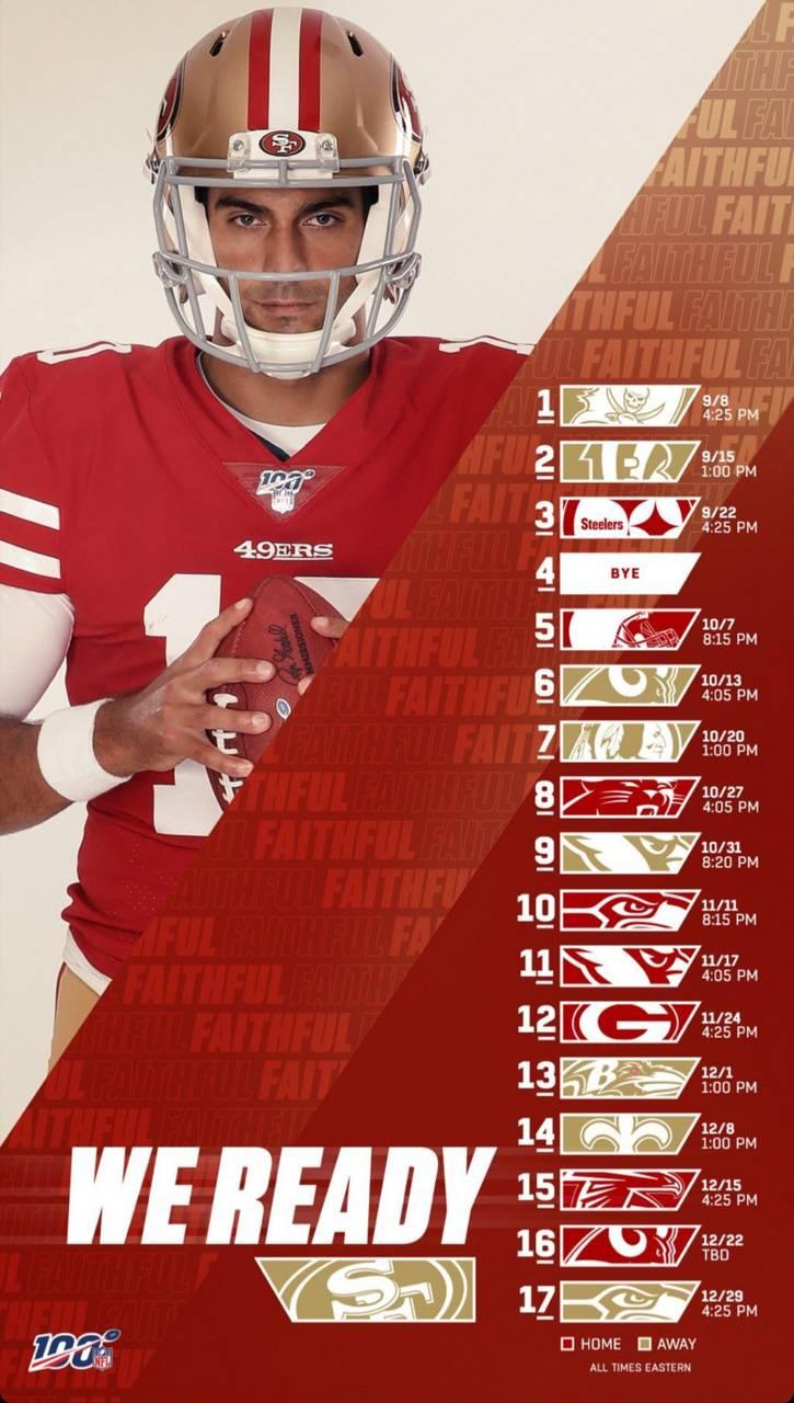 49ers 2019 schedule