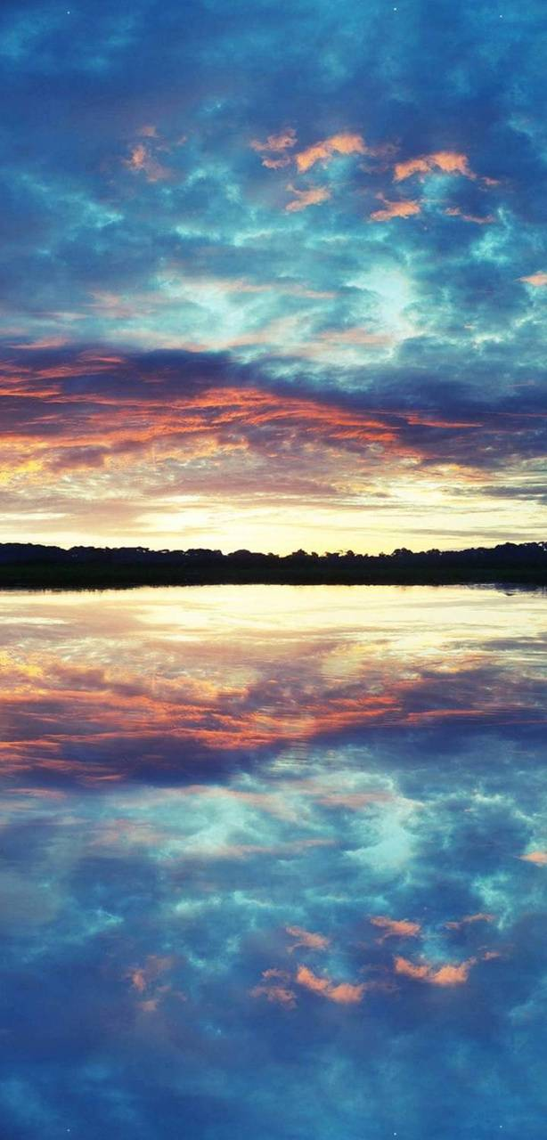 Mirrored ocean