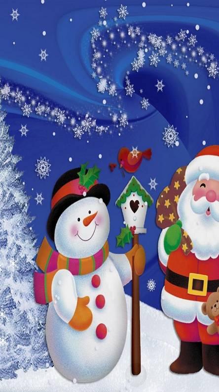 Santa and the snowma