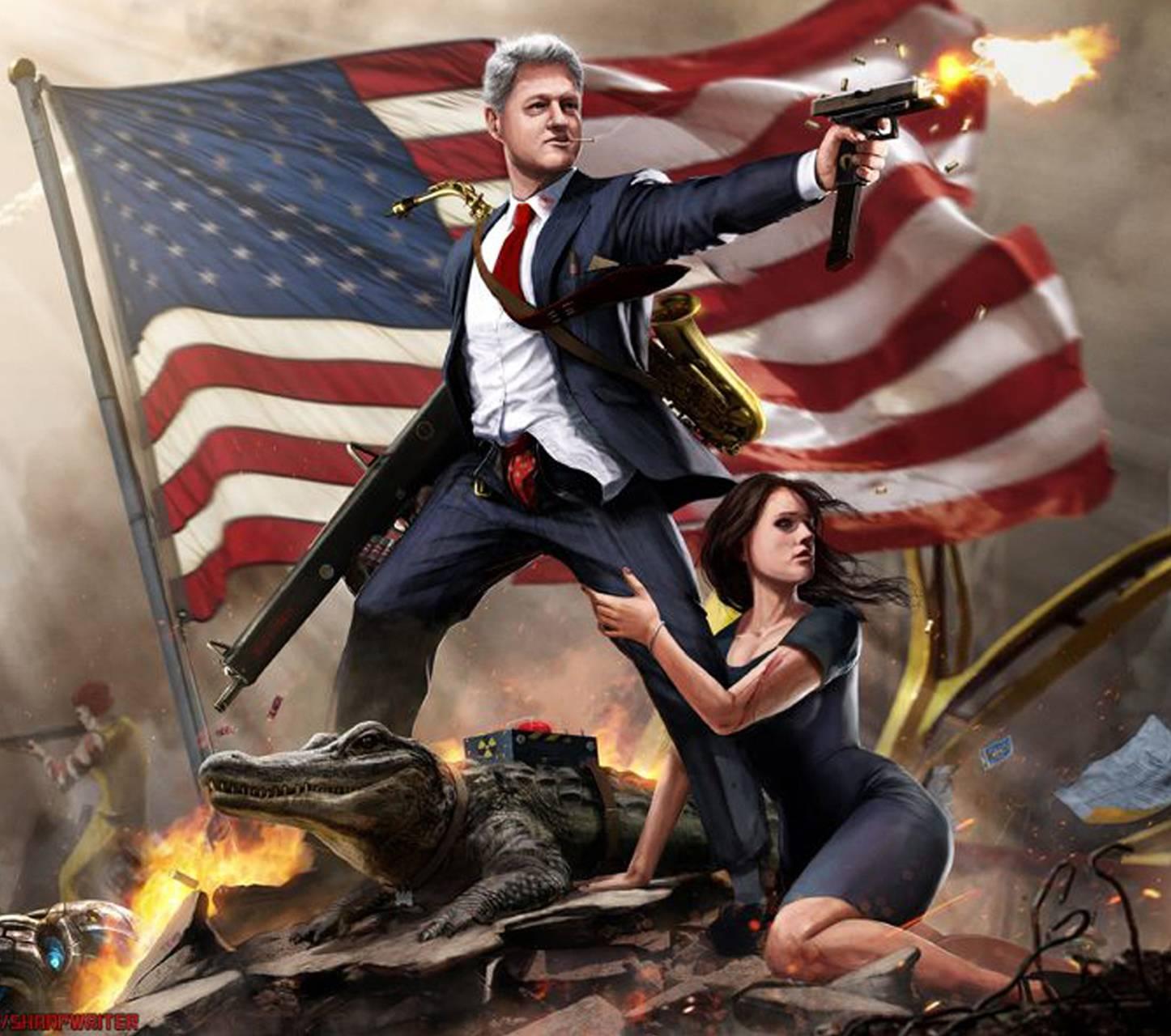 Bill Clinton Wallpaper by ZeusImages - d3