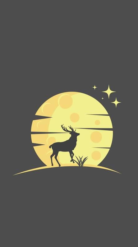 Moon and dear