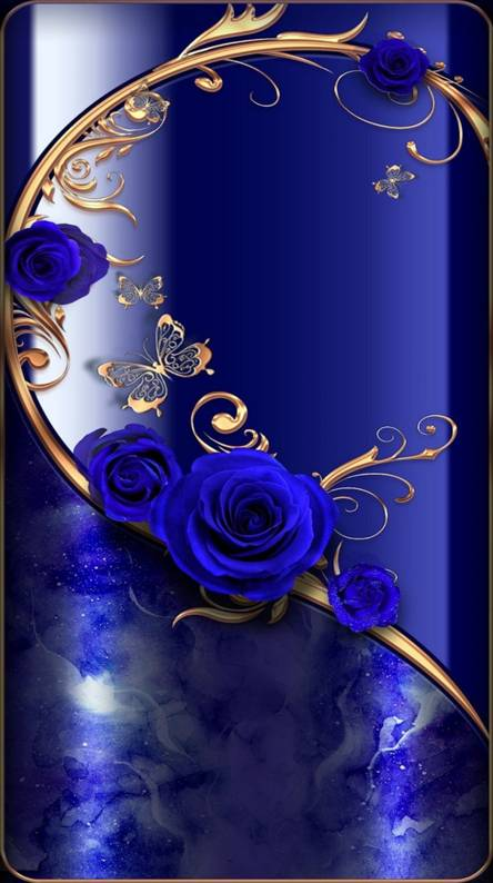 GOLD-BLUE FLOWERS