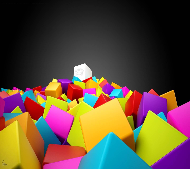 3d Colourful Squares