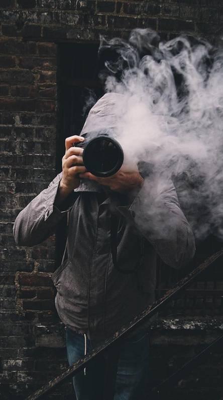 Smoker photographer
