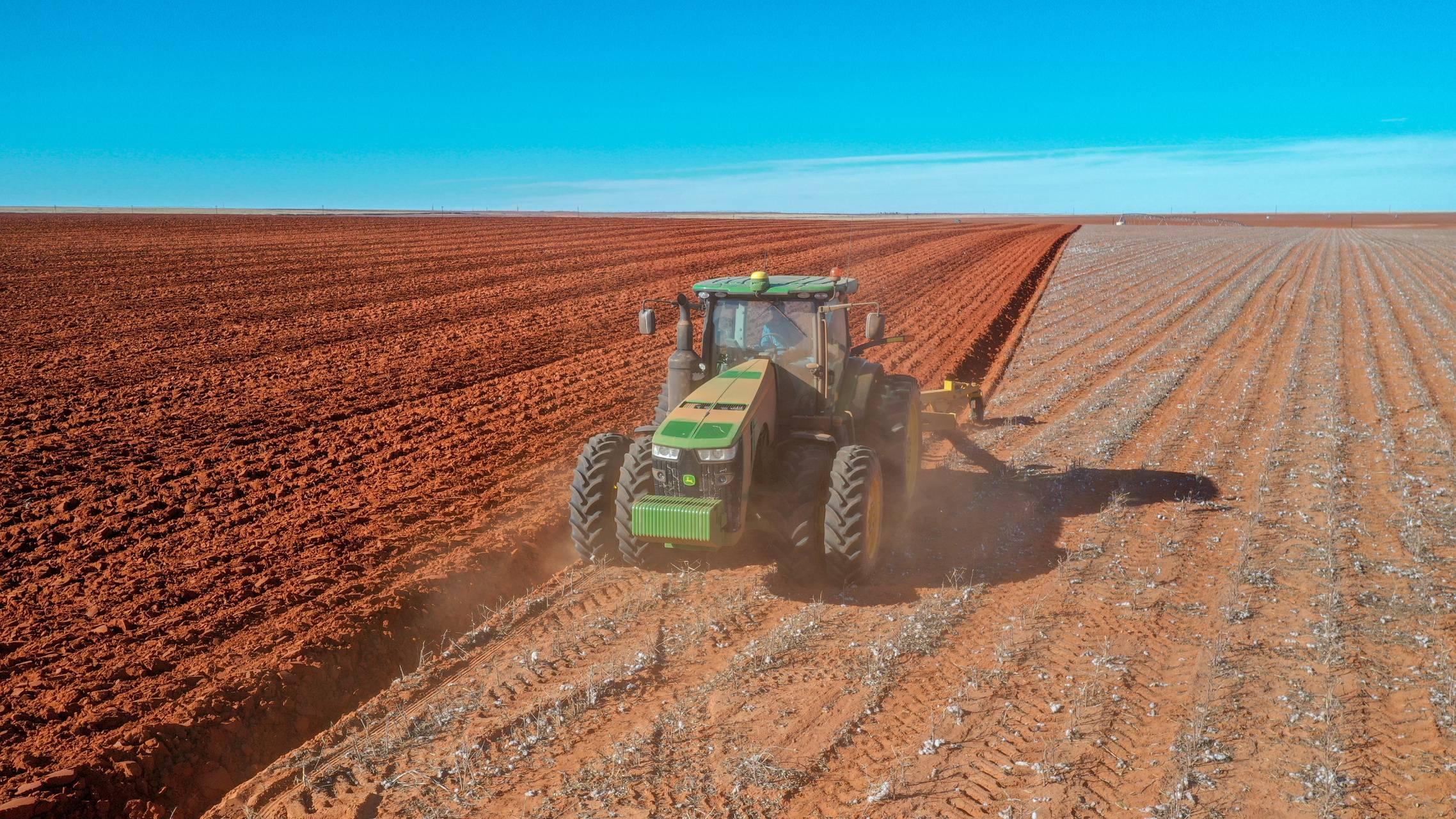 John Deere Plowing
