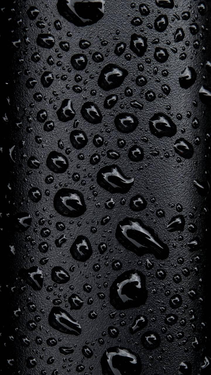Water on black