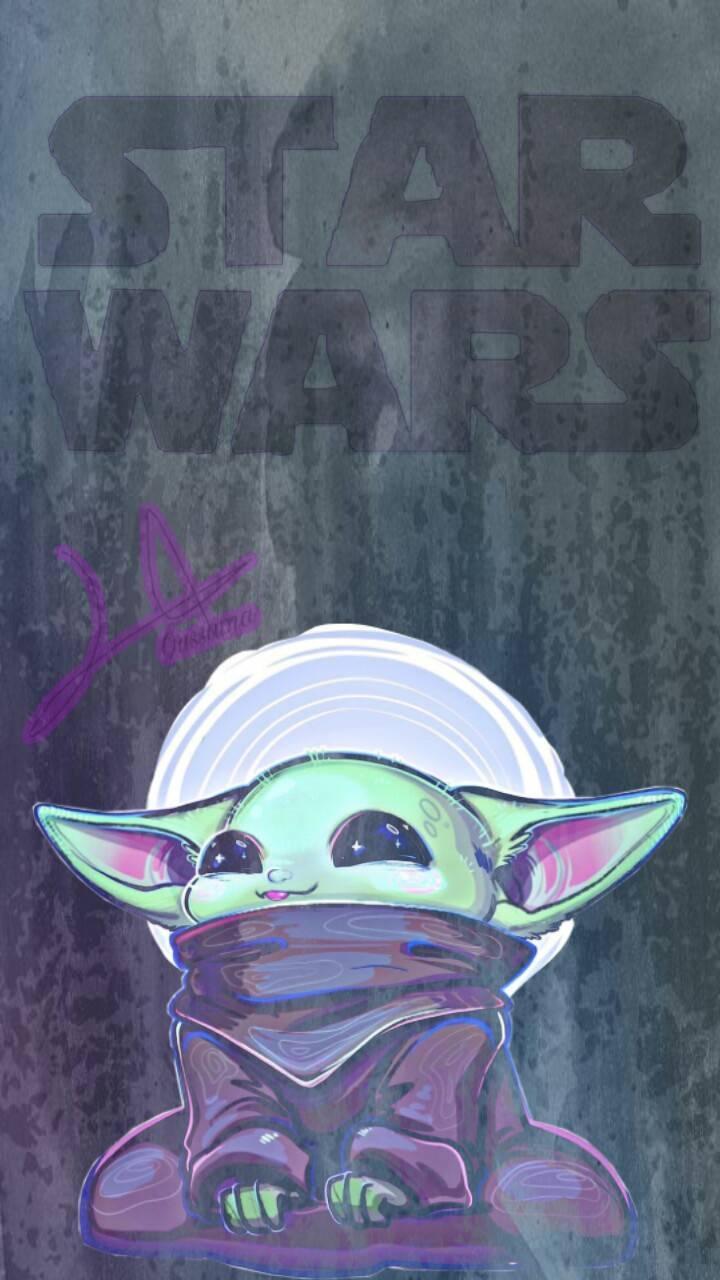 Baby Yoda Wallpaper Cartoon