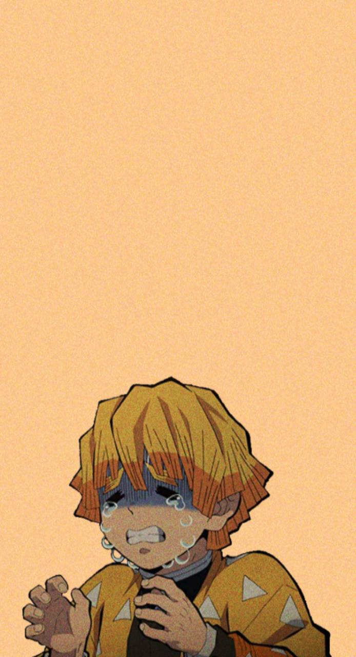 Zenitsu crying