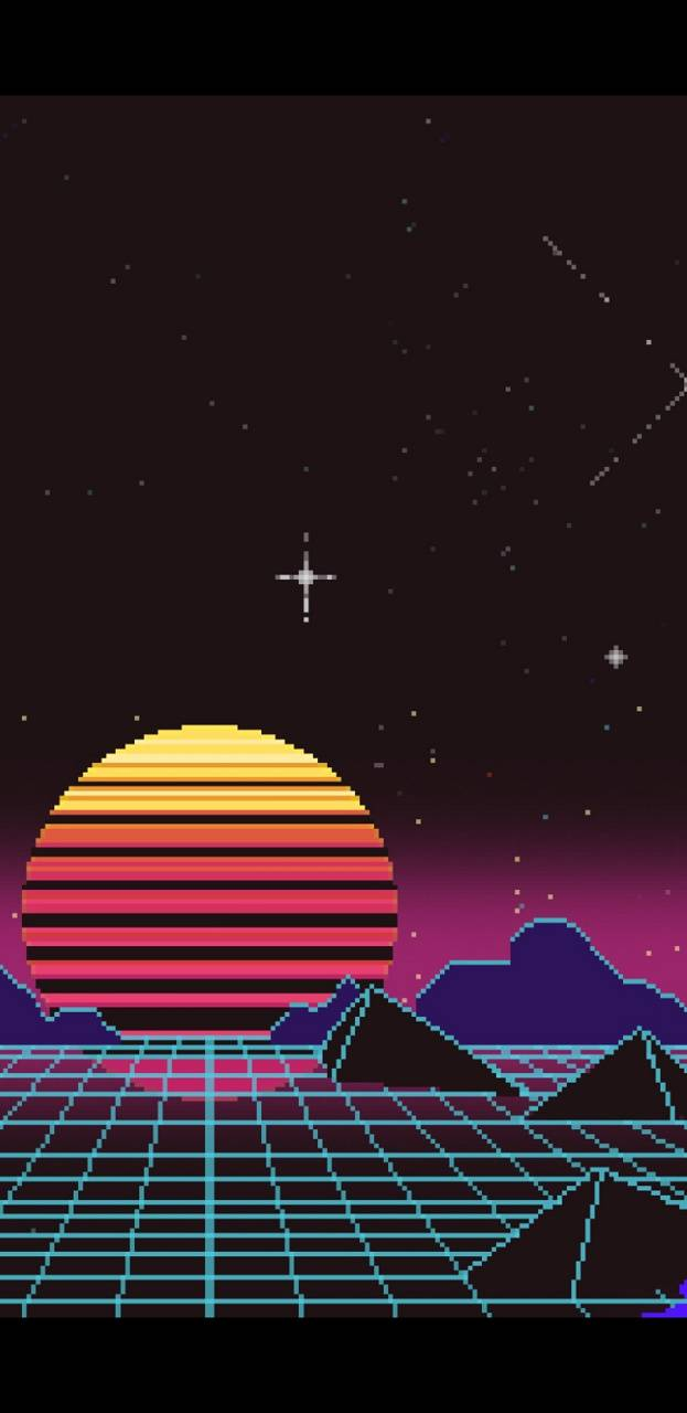 Neon vaporwave