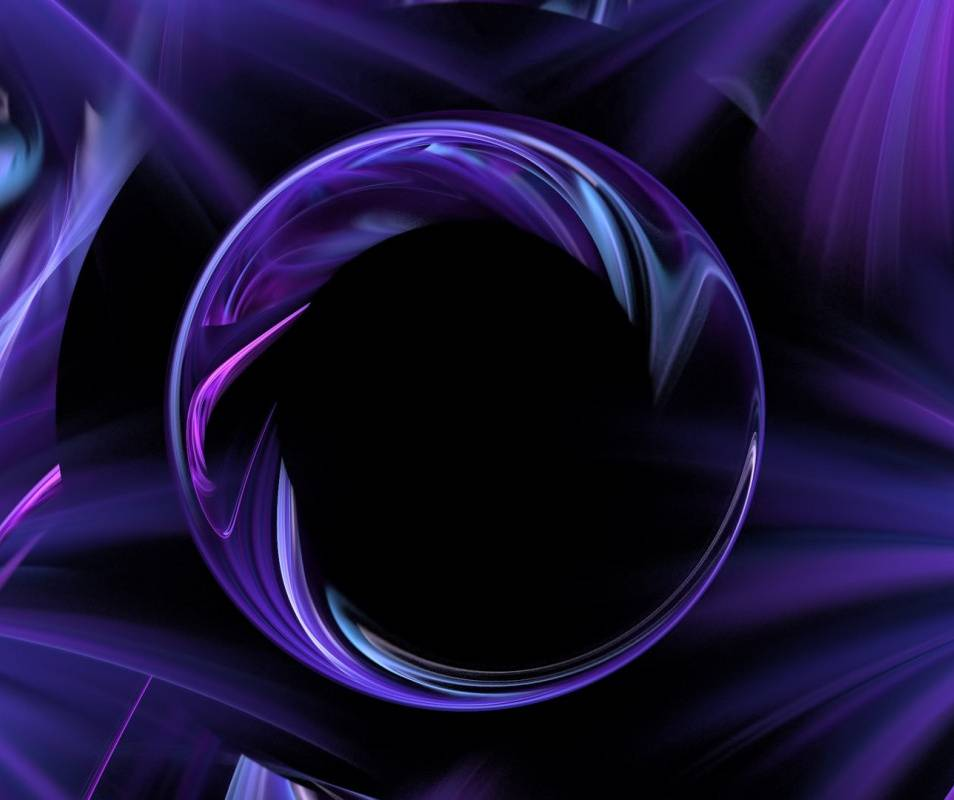 Purple Abstract Ball