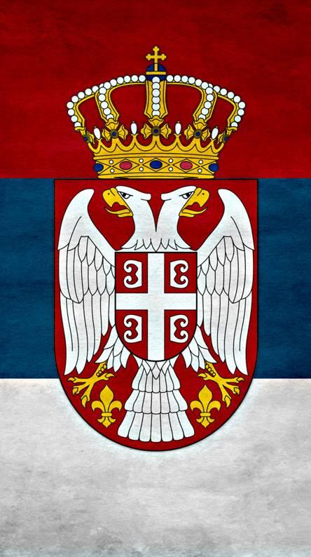 Serbia Grunge Wall