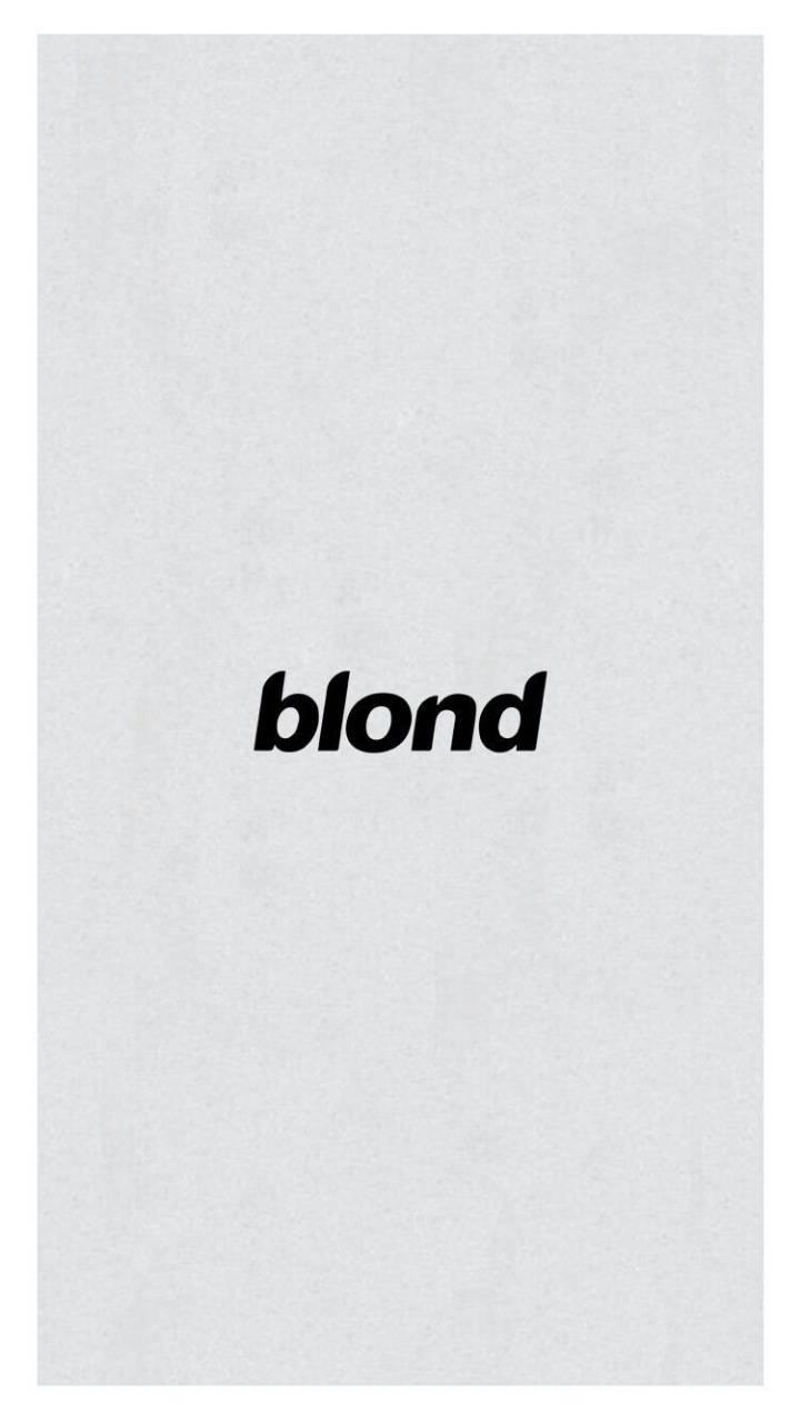 Blond Frank Ocean