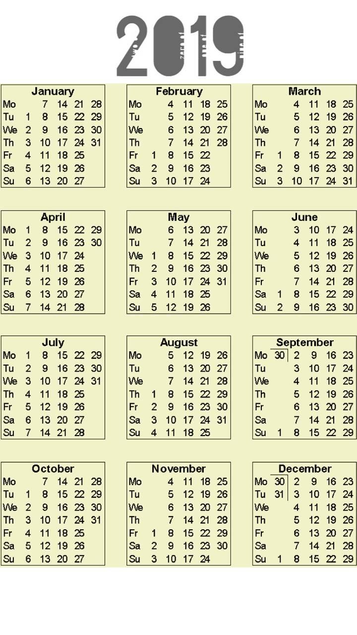 Calendar 2019 v4