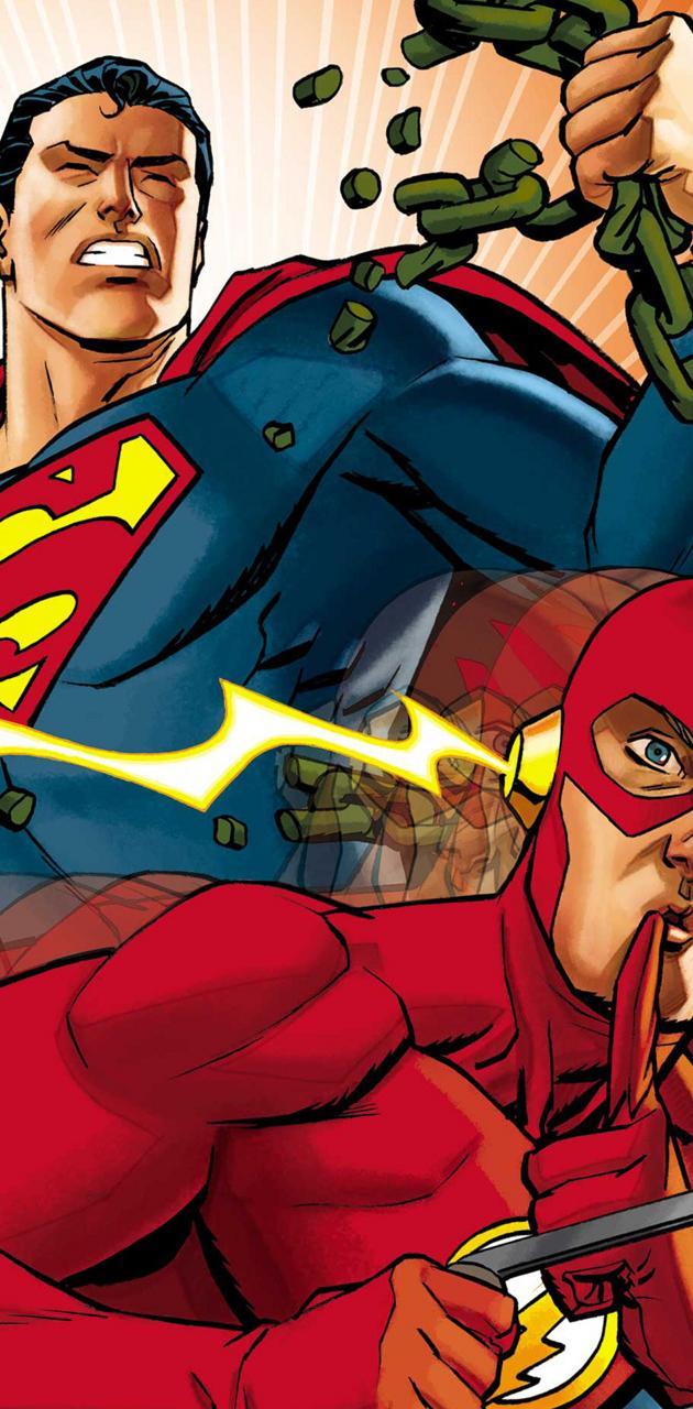 Superman w The Flash