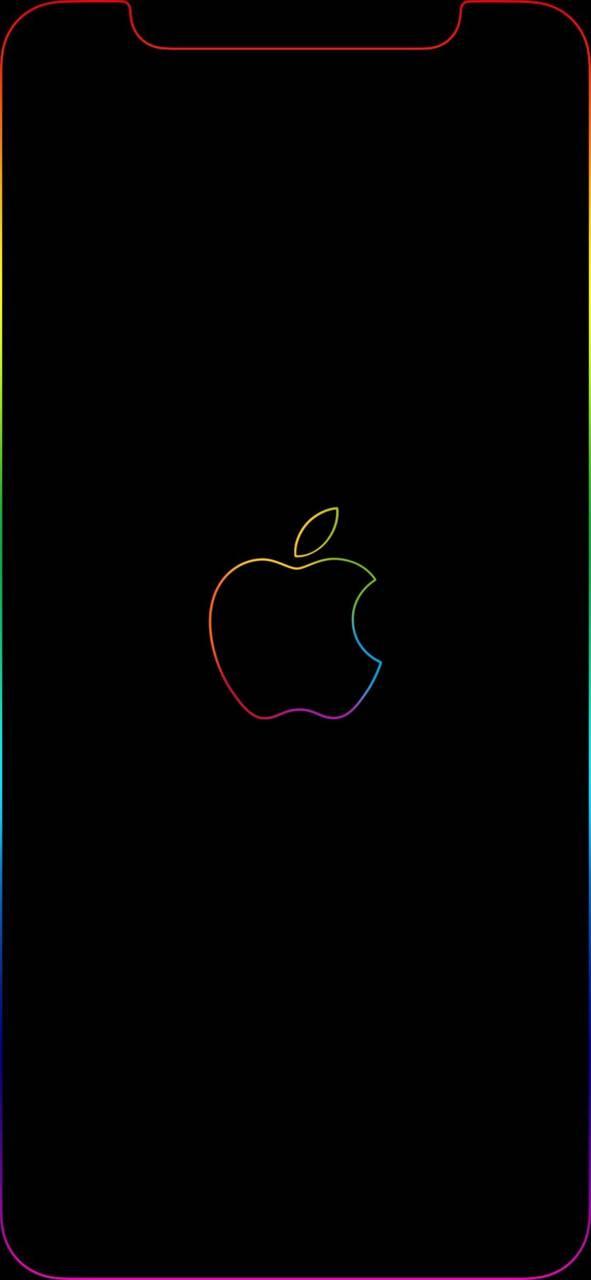 iPhone rainbow glow