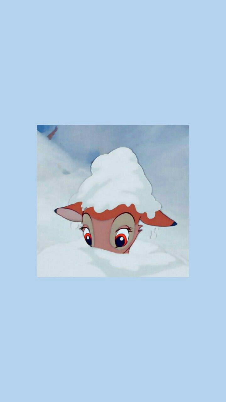 Bambi in the snow