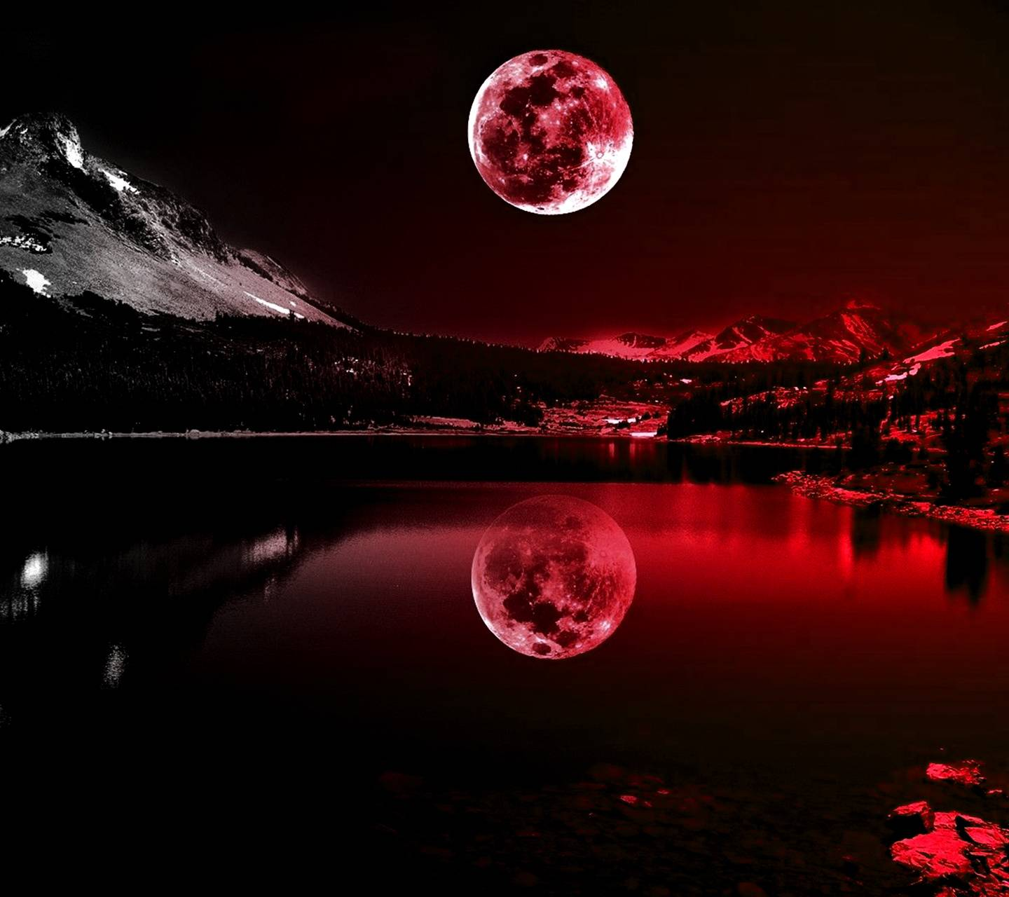 Red Moonlight Wallpaper By GIVENCHY