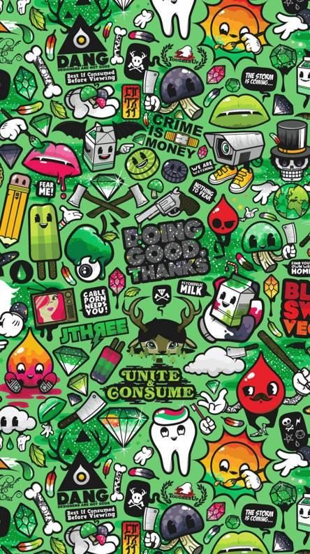 Retrostic Green