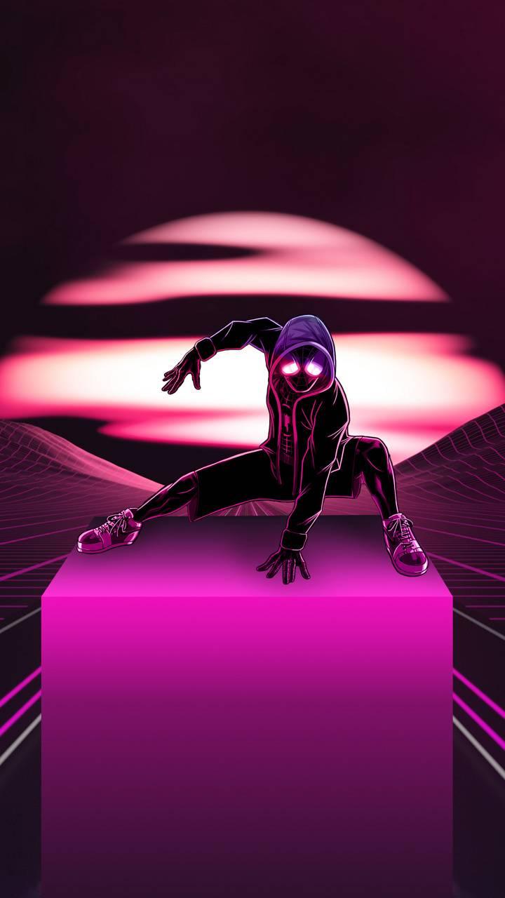 4K Neon Spider-Man