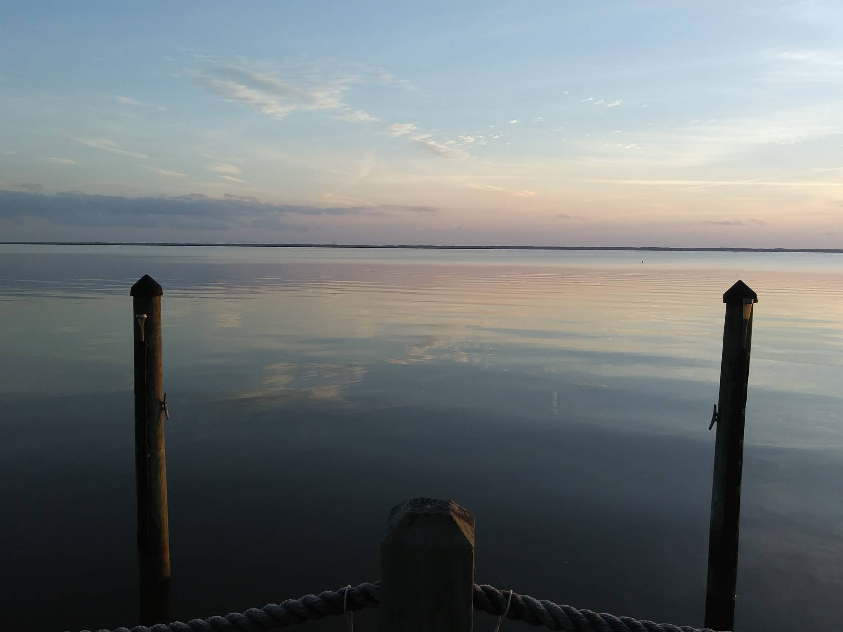 Dock at sunset NC