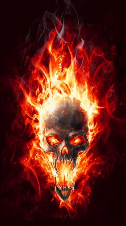 Flame Skull Wallpapers Free By Zedge