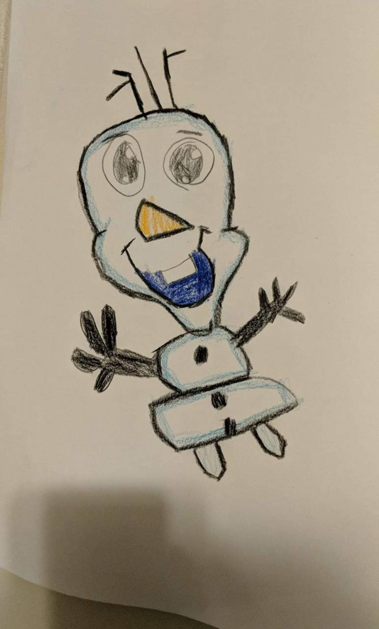 Drawing of Olaf