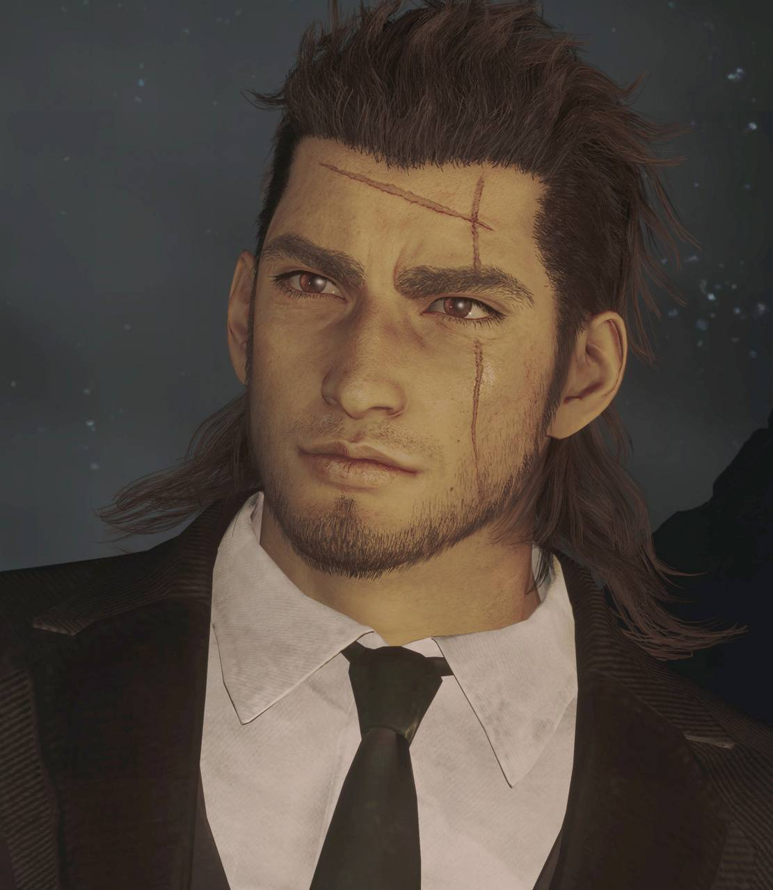Gladiolus on a suit
