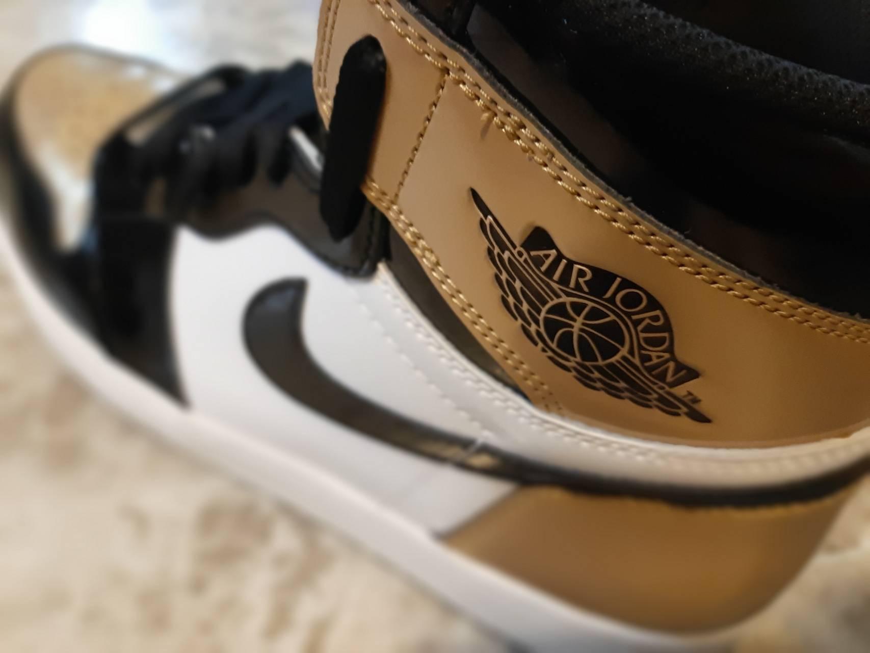 Gold Toe Air Jordan
