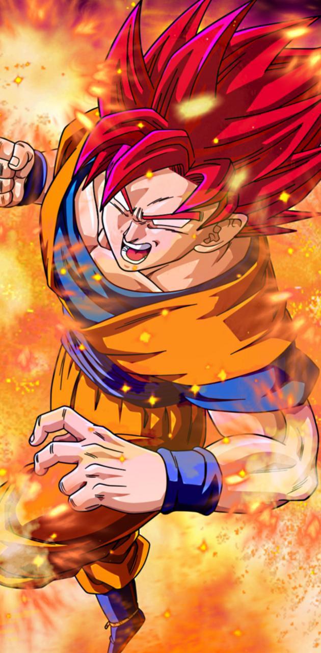 Goku bad red blue
