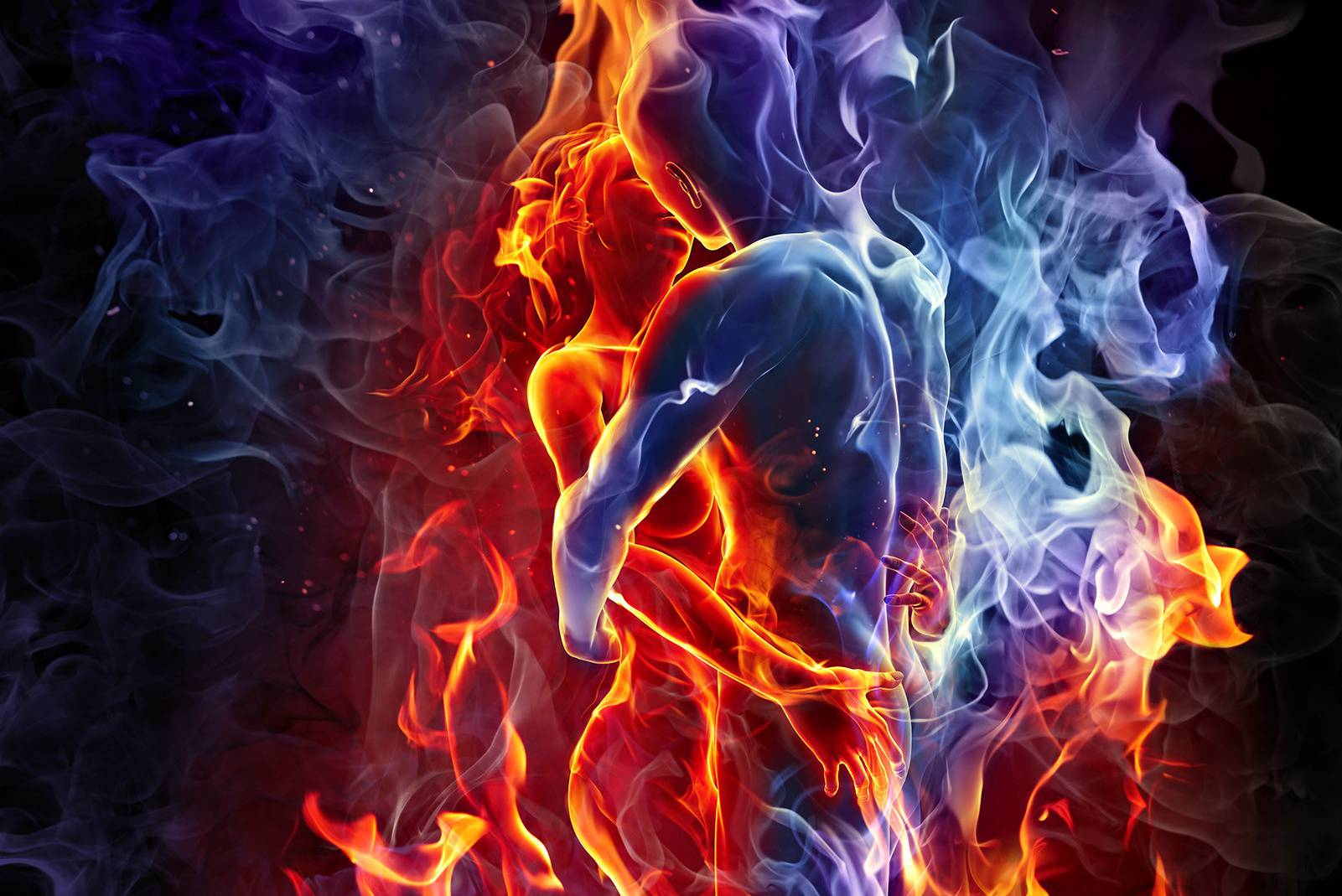 Couple In Fire