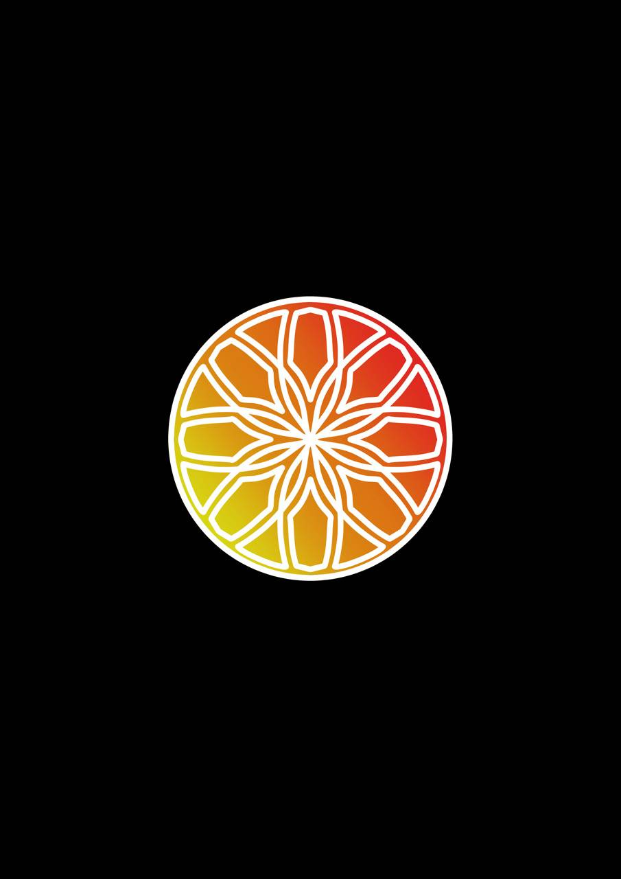 Red Orange Mandala