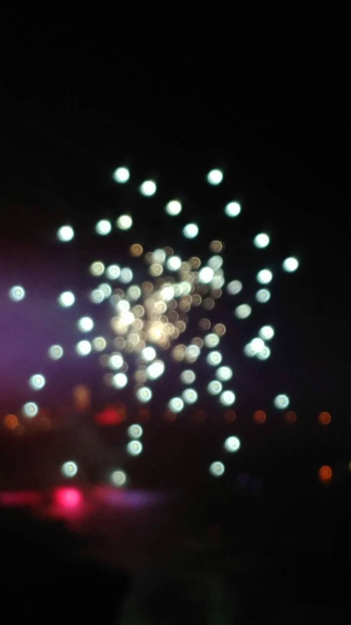 Blurry fireworks