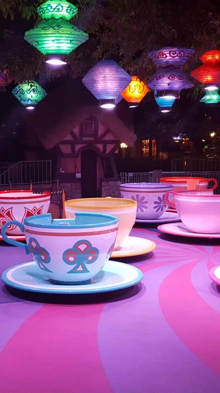 Teacup ride at night